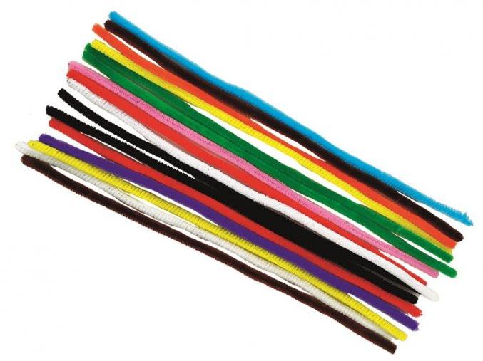 Anděl 6702 - Chlupaté drátky žinylky, mix barev, 16 ks