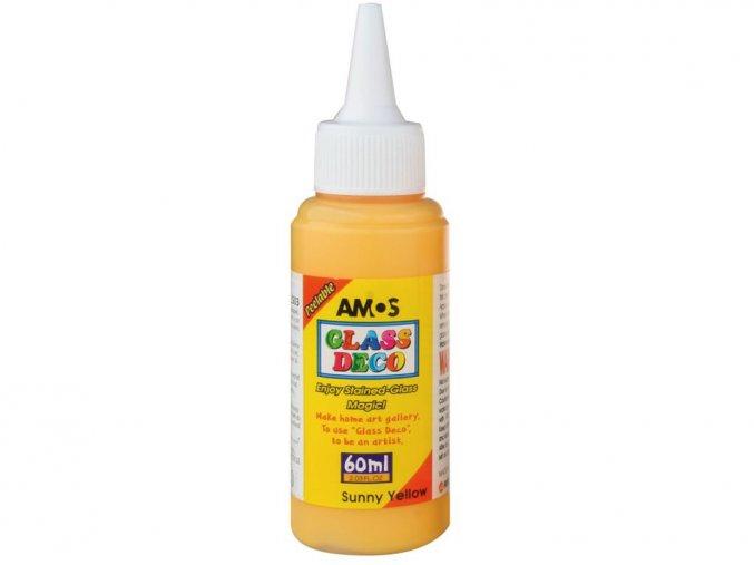 Amos 1503 Slupovací barva na sklo - žlutá