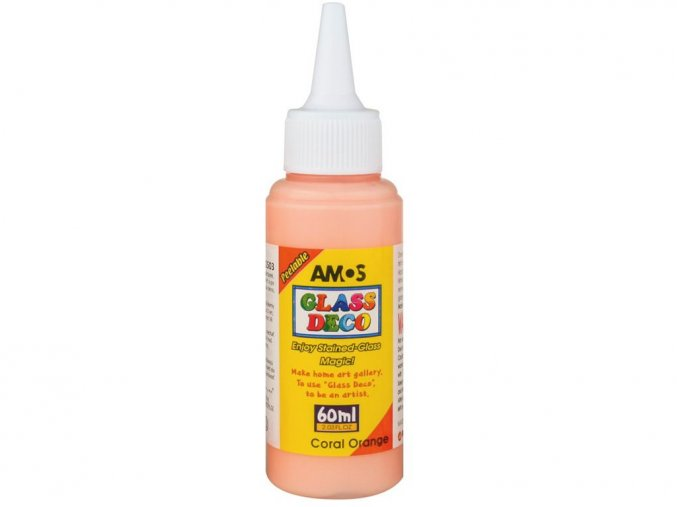 Amos 1503 Slupovací barva na sklo - korálová