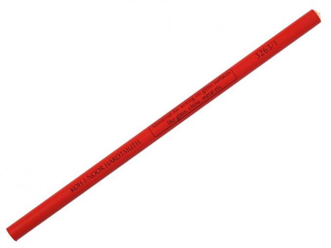 Koh-i-noor 3263 Speciální tužka na hladké povrchy červená