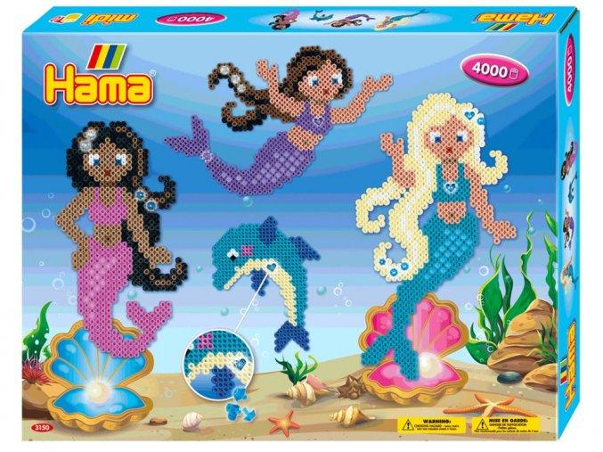 HAMA 3150 - Velká sada Mořské panny - zažehlovací korálky MIDI