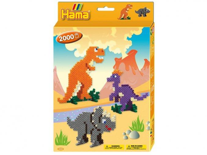 Hama 3434 Dárková sada Dinosauři - zažehlovací korálky MIDI