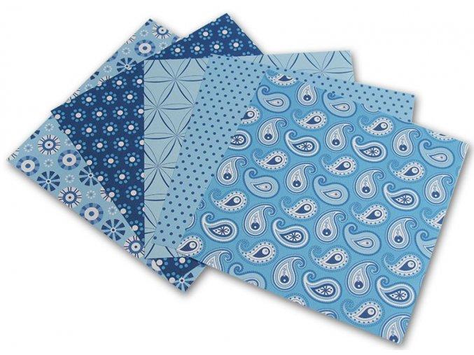 Origami papír Basics 80 g/m2 - 20 x 20 cm, 50 archů - modrý