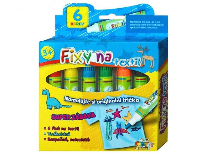Creatoys MFP206 - Fixy na textil 6 ks