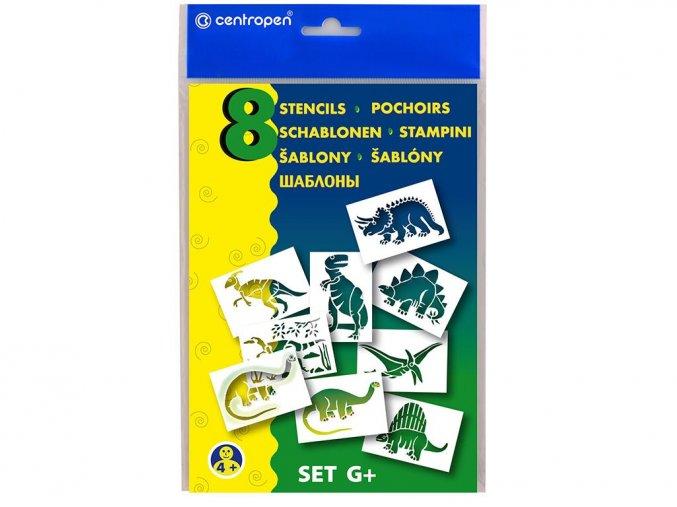 Centropen 9996-15 Šablony A5 - dinosauři