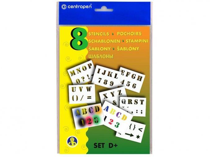 Centropen 9996-12 Šablony A5 - písmena a číslice