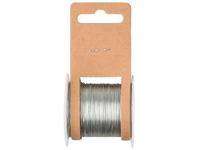 Anděl 2814 - vázací drátek stříbrný, 20 m