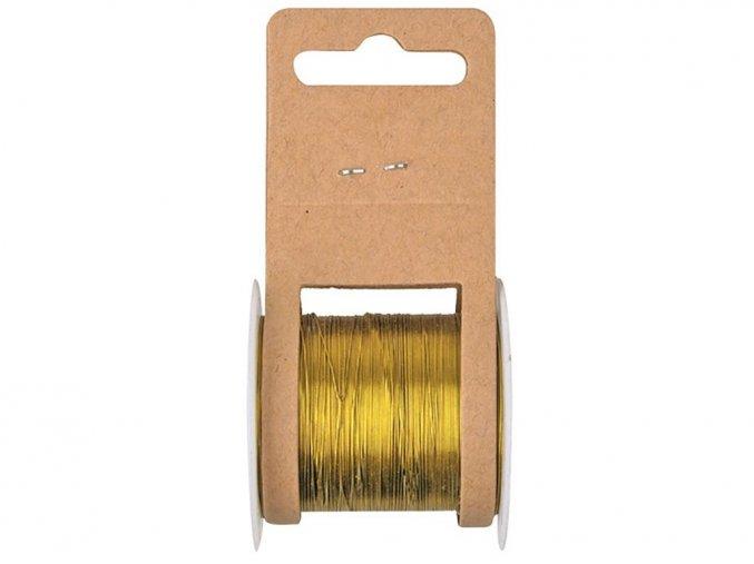 Anděl 2815 - vázací drátek zlatý, 20 m