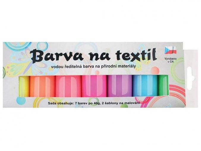 Anděl 6106 - Barvy na světlý textil, svítící ve tmě, 7x15 g + šablony
