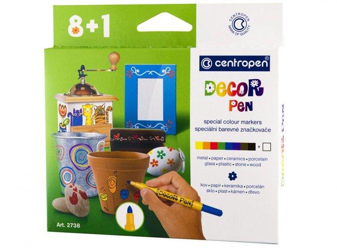 Centropen 2738 - Speciální značkovače Decor pen