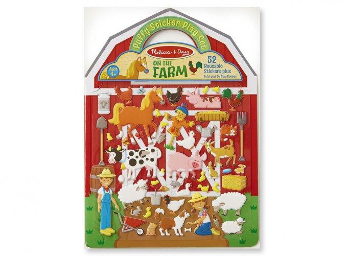 Melissa and Doug 19408 - Adhezní sešit se samolepkami - Farma