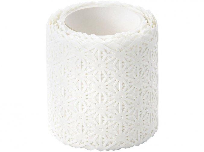 Folia 29101 - Washi bordura z rýžového papíru - motiv Květiny bílé