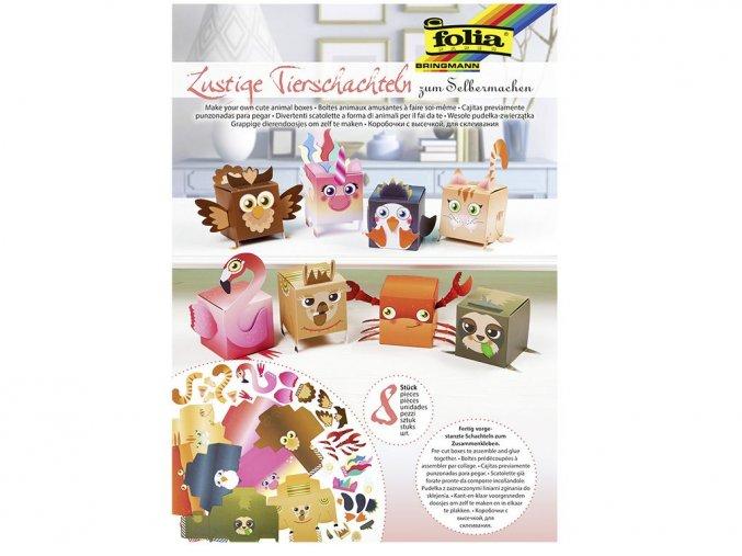 Folia 21902 - Set na výrobu veselých krabiček zvířátek
