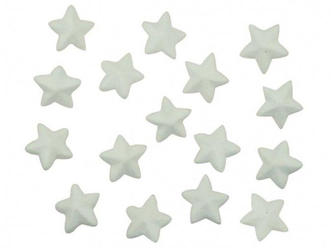Anděl 6713 - Dílky z polystyrenu hvězdy, 3,5 cm, 16 ks