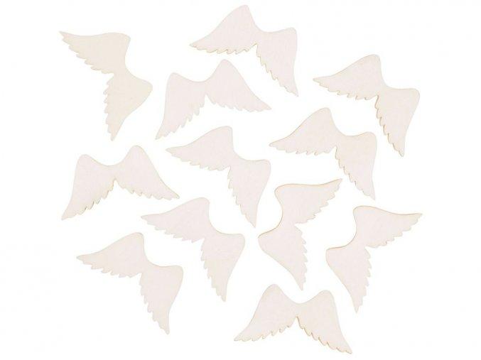 Anděl Přerov 4188 - Křídlo dřevěné přírodní, 4 cm, 12 ks