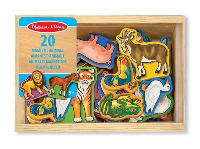 Melissa and Doug 10475 - Dřevěné magnety Zvířátka 20 ks