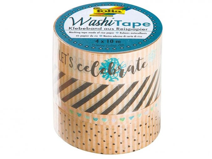 Folia 26447 - Washi tape - dekorační páska, kraft papír