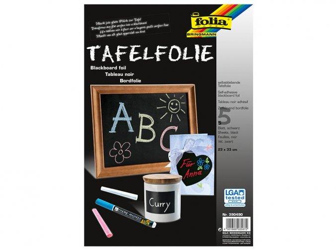 Folia 390490 Samolepicí folie na tabule 23x33 cm, 5 ks