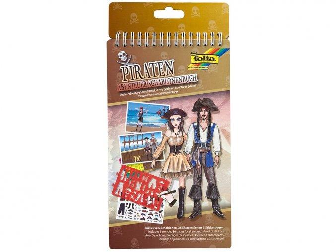Folia 41102 - Kniha se šablonami - Dobrodružství pirátů