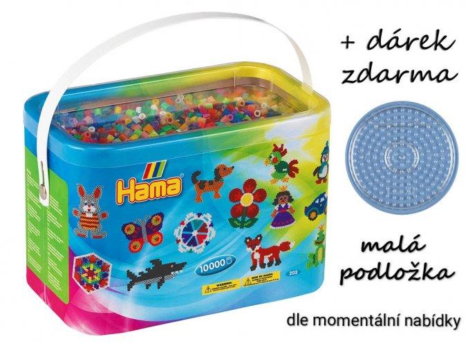 H202-67 zažehlovací korálky HAMA - 10 000 ks + podložka zdarma