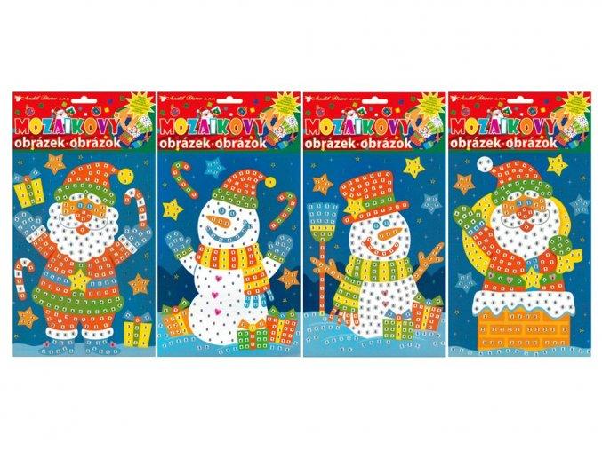 Anděl 1692 - Mozaika Vánoce 23x16 cm