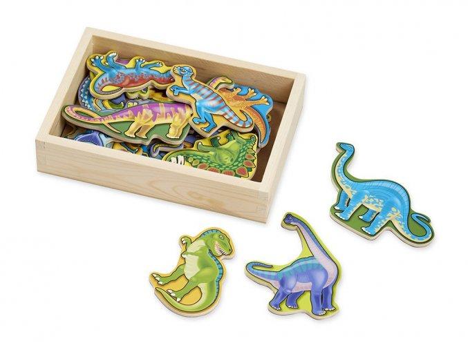 Melissa and Doug 10476 - Dřevěné magnety Dinosauři 20 ks