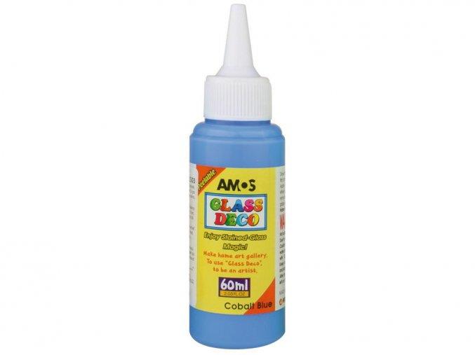 AMOS 1503 - Slupovací barva na sklo - tmavěmodrá, 60 ml