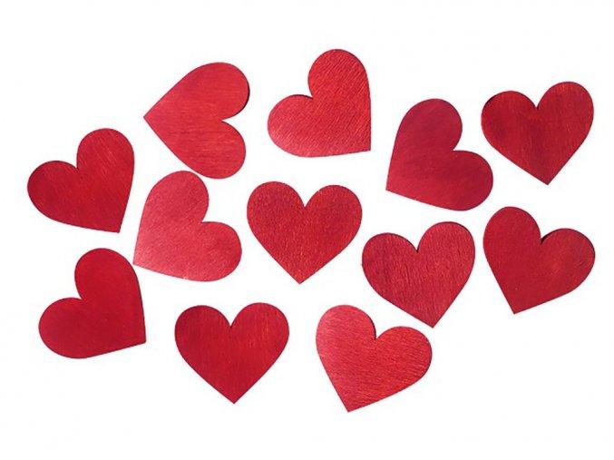 Anděl Přerov 3997 - Dřevěná srdce 3,5 cm, 12 ks