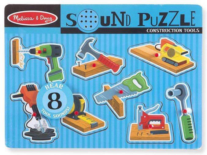 Melissa and Doug 10733 - Dřevěné puzzle se zvuky - Nářadí