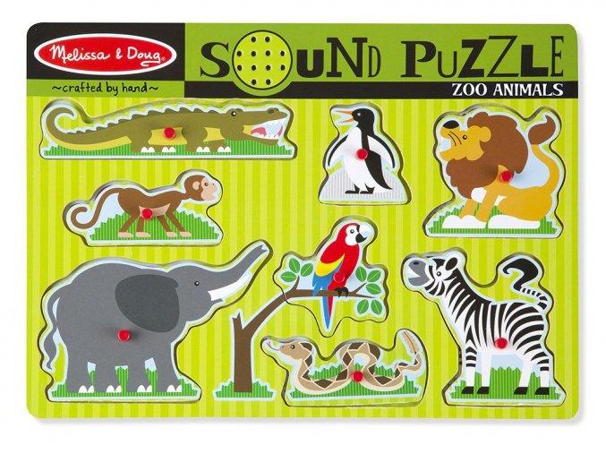 Melissa and Doug 10727 - Dřevěné puzzle se zvuky - ZOO
