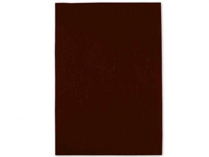 Folia 520485 Dekorační filc/plst Folia - 20 x 30 cm - hnědá čokoládová