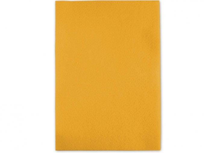 Folia 520414 Dekorační filc/plst Folia - 20 x 30 cm - žlutá banánová