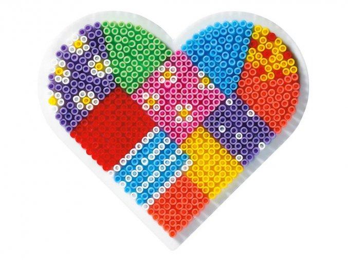 Hama 591 - podložka pro zažehlovací korálky Mini - srdce