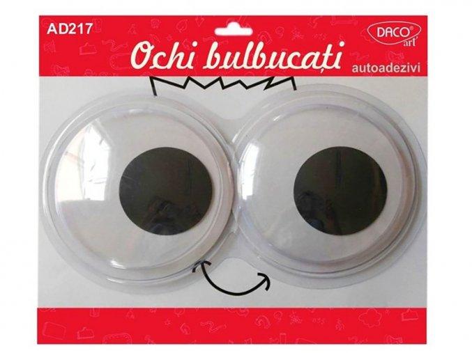 DACOart 217 - Oči černobílé vypouklé, průměr 15 cm