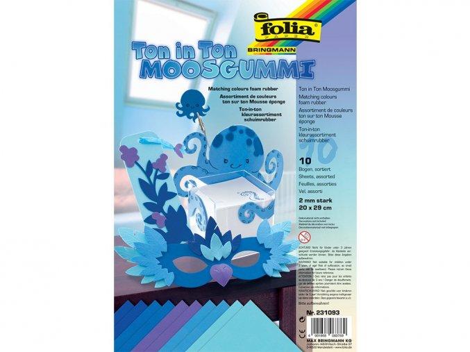 Folia 231093 - Penovka moosgummi - tón v tónu - modrá
