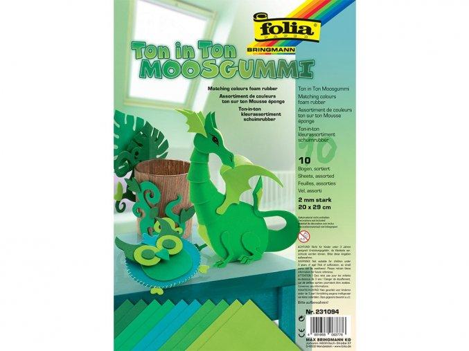 Folia 231094 - Penovka moosgummi - tón v tónu - zelená