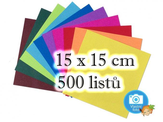 Folia 8965 - origami papíry 15x15 cm, 500 listů