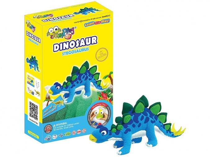 C2-3 Jumping clay modelína - dinosaurus Stegosaurus