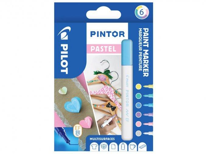 Popisovače Pintor Pastel - Sada 6 ks, hrot EF