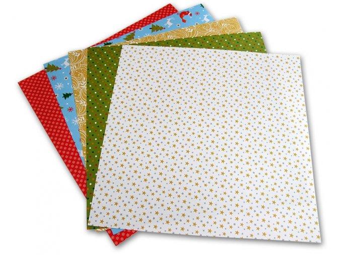Origami papír Vánoce 80 g/m2 - 10 x 10 cm, 50 archů