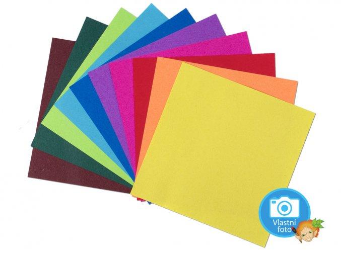Folia Origami papír 70 g/m2 - 10 x 10 cm, 100 archů v 10-ti barvách