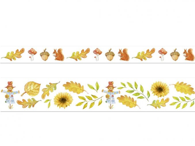 Ursus 5869/99 - Washi Tape - dekorační lepicí pásky 2 ks - podzim