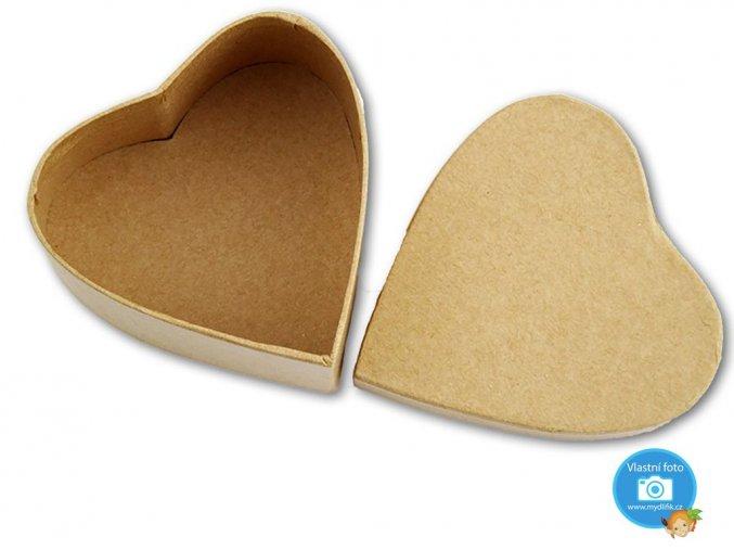 Folia 3324 - Krabička papírová natur - srdce