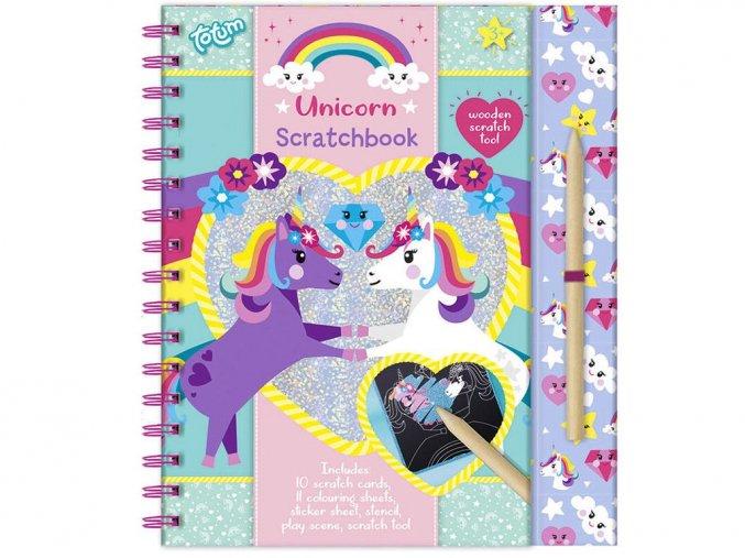 Totum 071605 - Škrábací kniha - Unicorn