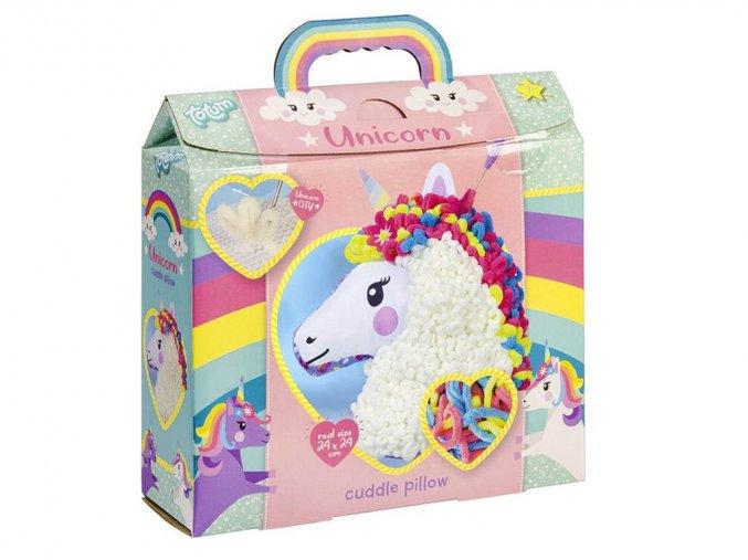 Totum 071643 - Kreativní sada - Vyrob si polštářek Unicorn