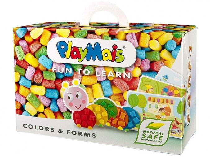 PlayMais 160063 - Stavebnice Barvy a Tvary - Fun to learn