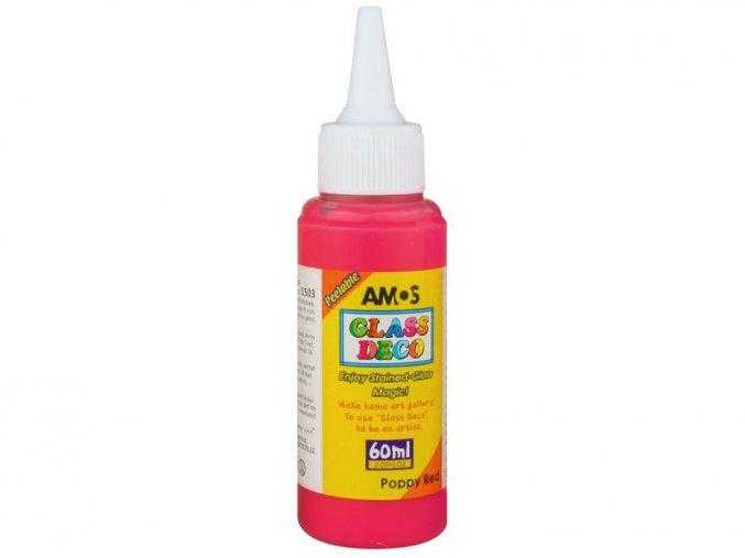 AMOS 1503 - Slupovací barva na sklo - ČERVENÁ, 60 ml