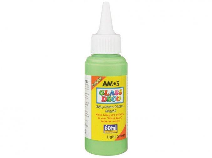 AMOS 1503 - Slupovací barva na sklo - ZELENÁ SVĚTLÁ, 60 ml