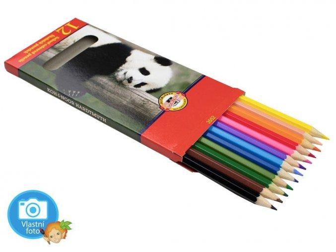 Souprava školních pastelek Koh-i-noor ZVÍŘATA - 3552 - 12 barev