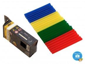 MAGG 13007 Tavné lepící patrony barevné, 7 x 100 mm, 24 kusů